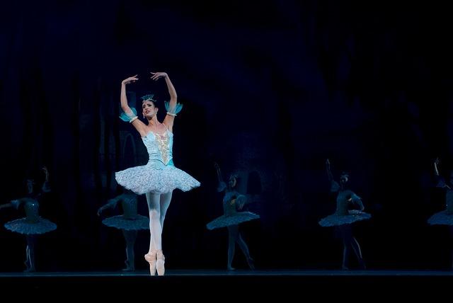 baletka v modrém