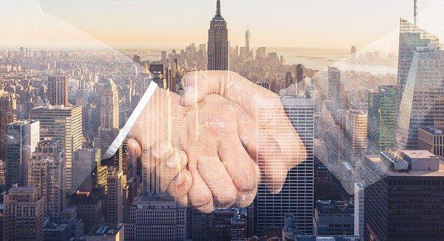 Potřesení rukou podnikatelů